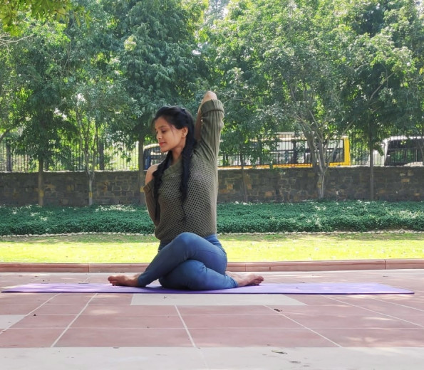 Ms. Bholi with 2 years of Yoga teaching.