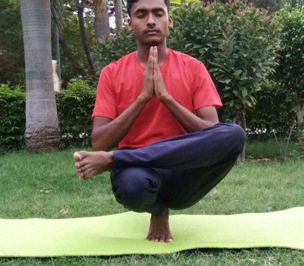 Mr. Anil with 2 years of yoga teaching.